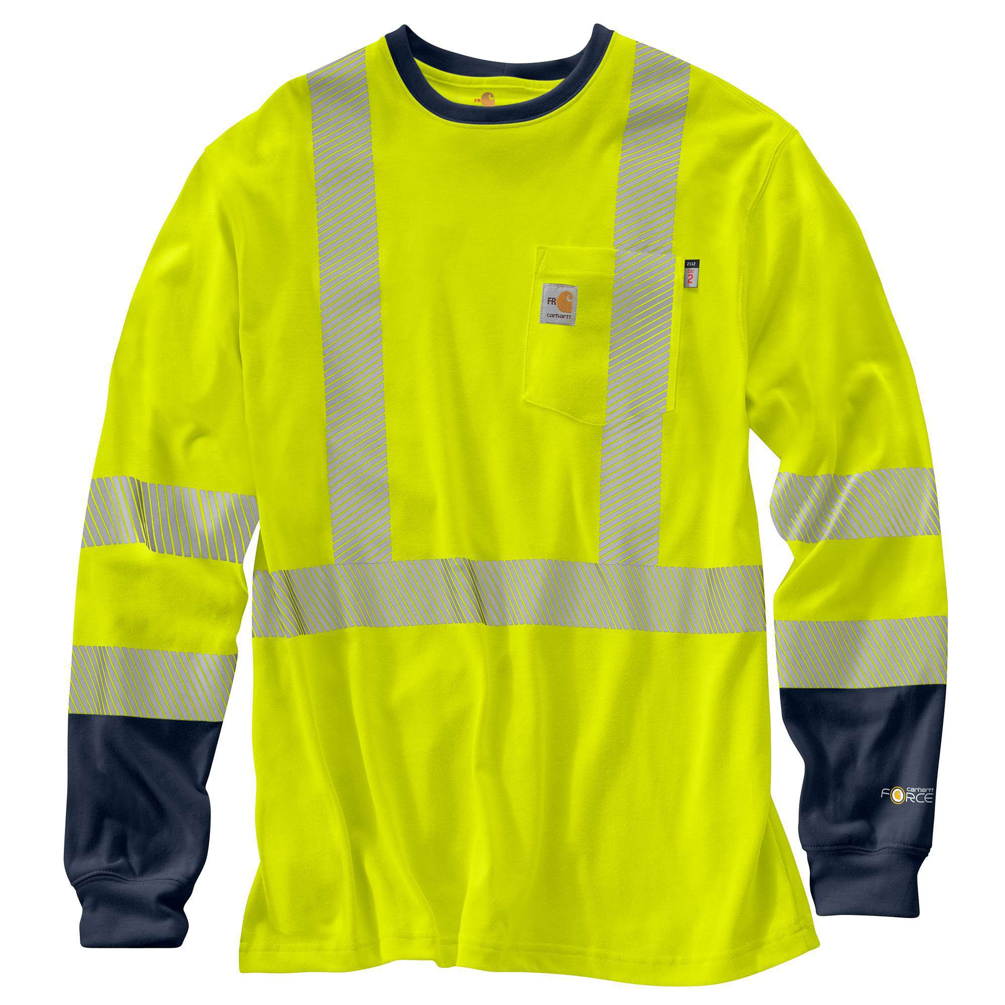 MEN'S FLAME-RESISTANT HIGH-VIS FORCE LONG-SLEEVE T-SHIRT CLASS 3
