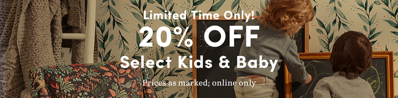 20% off Kids & Baby