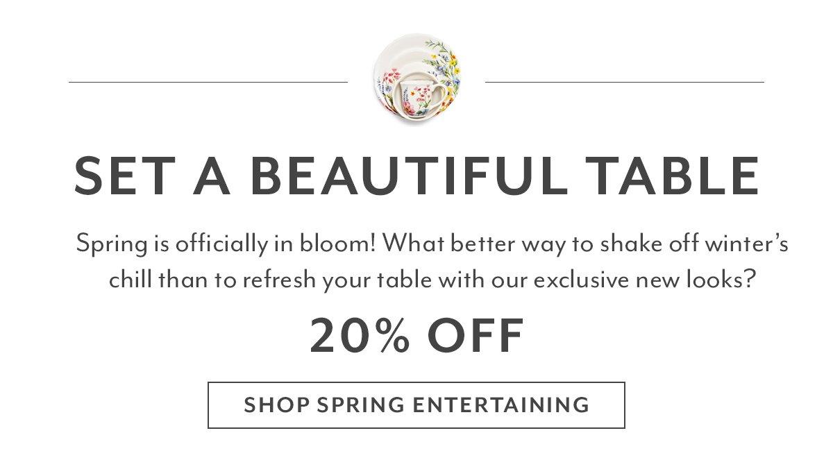 Spring Entertaining Sale