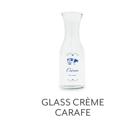 Glass Creme Carafe