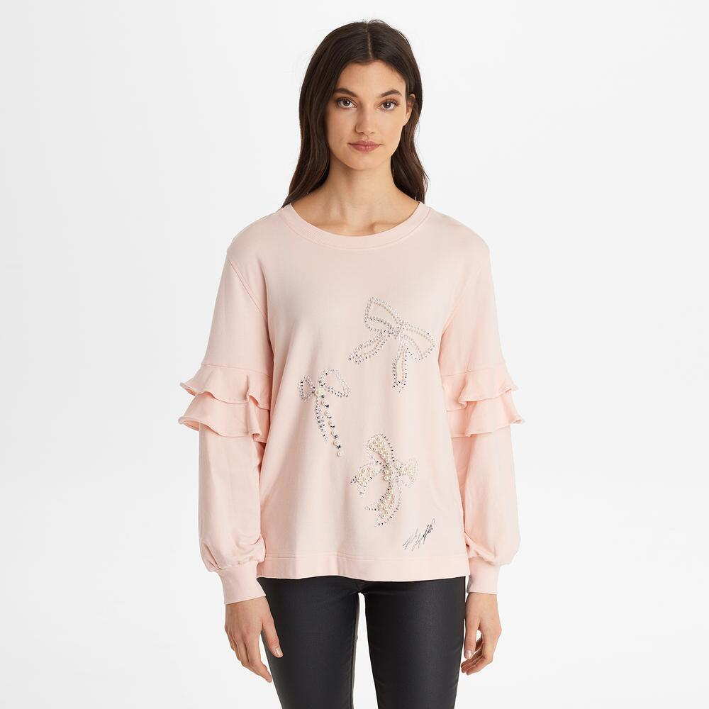 CRYSTAL BOW SWEATSHIRT