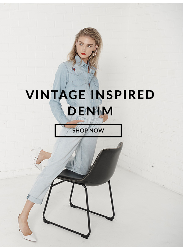 Vintage Inspired Denim. Shop Now.
