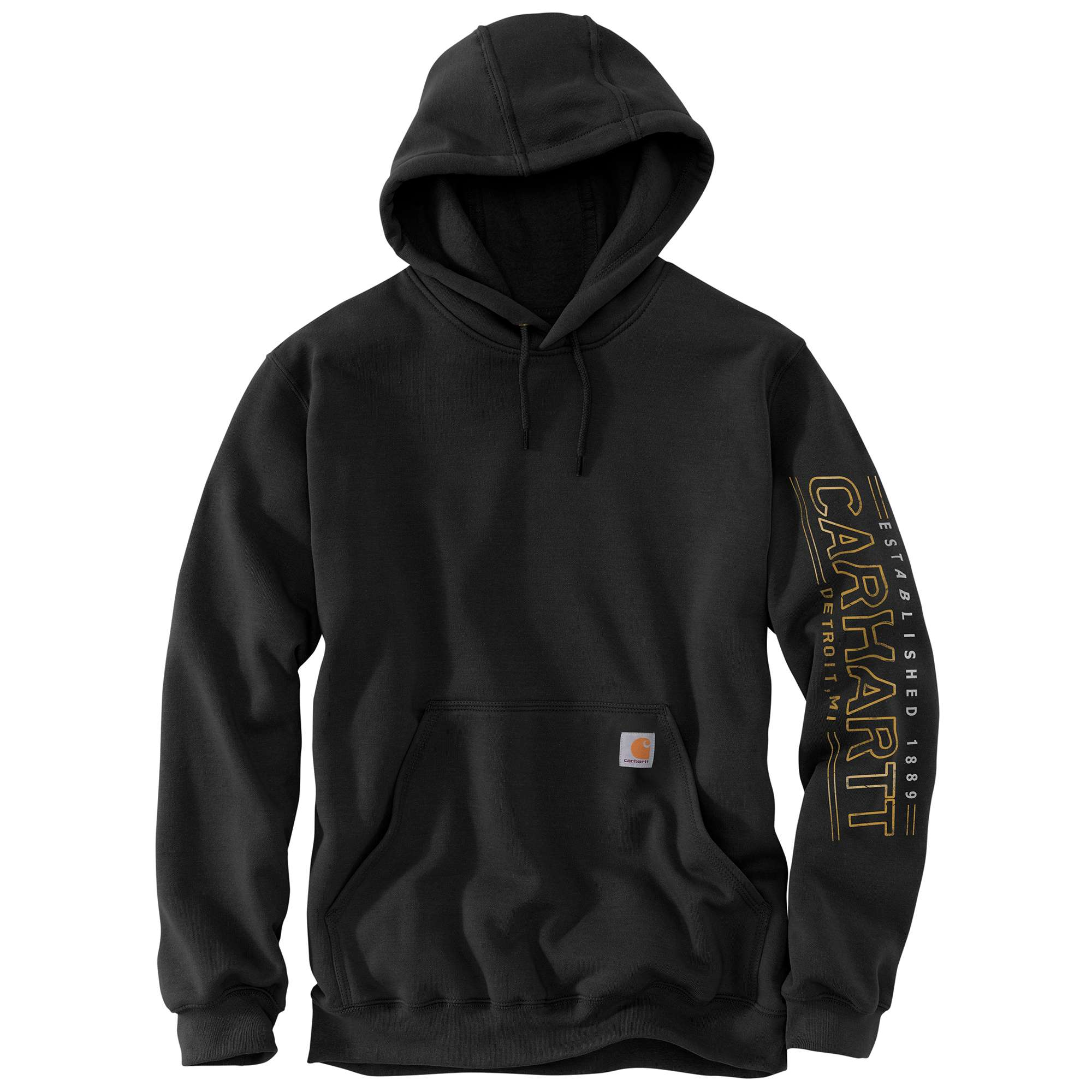 MEN'S MIDWEIGHT DETROIT SLEEVE GRAPHIC HOODED SWEATSHIRT
