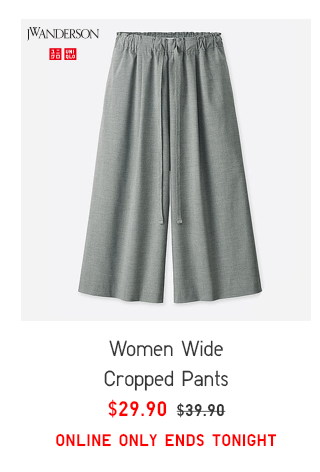 WOMEN WIDE CROPPED PANTS $29.90