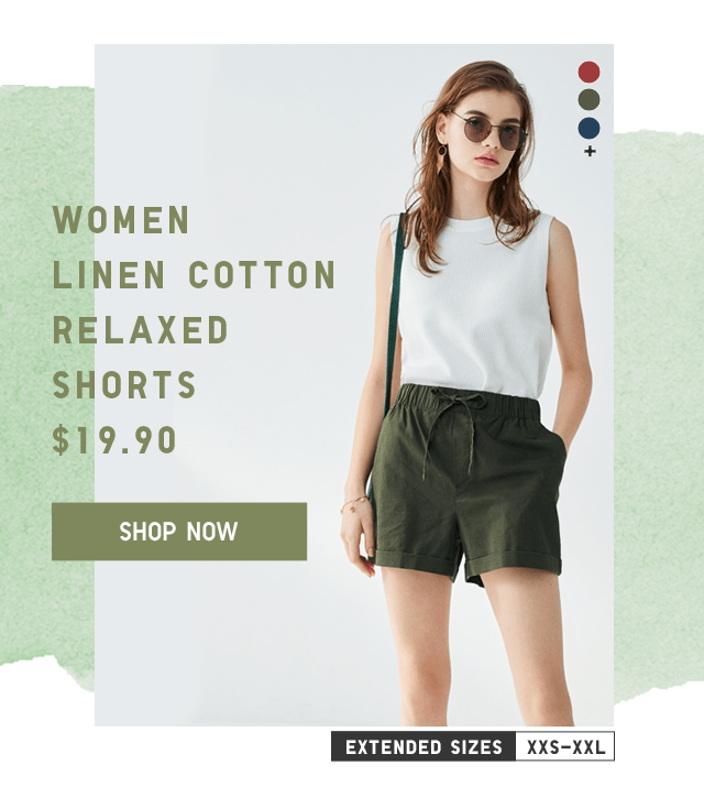 LINEN COTTON RELAXED SHORTS $19.90 - SHOP NOW