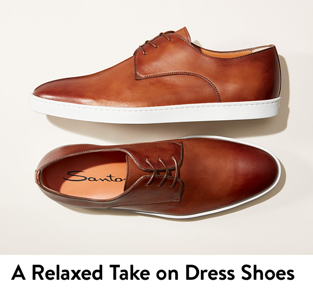 A relaxed take on dress shoes for men.