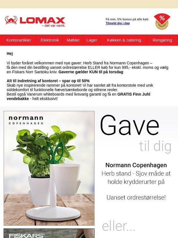 b072eb7d100 Lomax A/S: Nye forårsgaver: Normann CPH og Fiskars – KUN til torsdag |  Milled