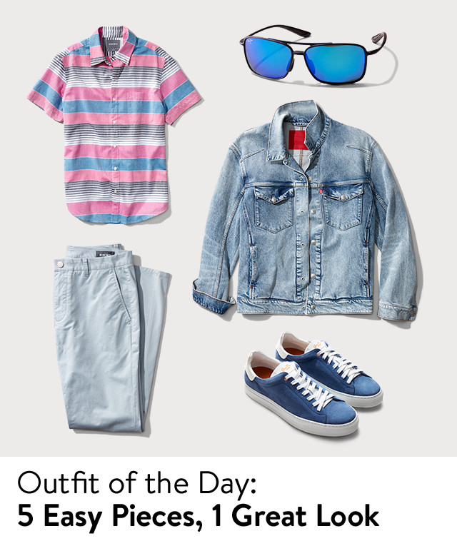 Outfit of the day: five easy men's styles.