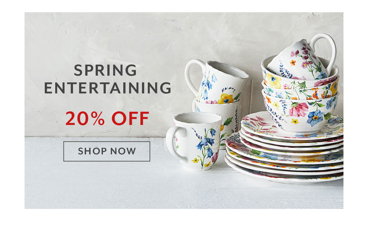 Spring Entertaining Sale