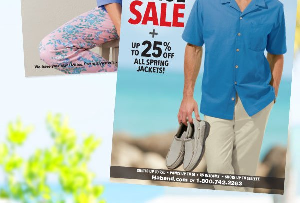 Shop Men's Shirt & Shoes SALE Plus Up To 25% OFF All Spring Jackets!