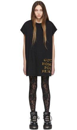 Gucci - Black Sequin 'Homme Pour Femme' T-Shirt