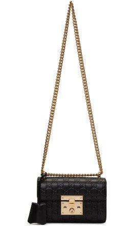 Gucci - Black Small GG Padlock Bag