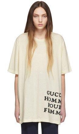 Gucci - Ivory 'Homme Pour Femme' T-Shirt
