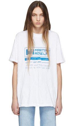 Martine Rose - White Wobbly T-Shirt