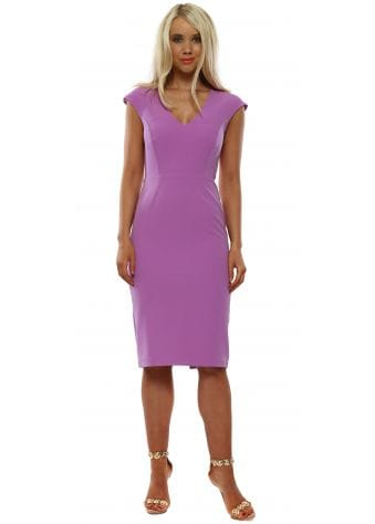 Meghan Lilac Midi Pencil Dress