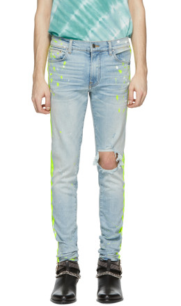Amiri - Indigo Broken Painter Track Jeans