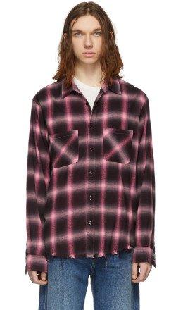 Amiri - Pink Plaid Shirt