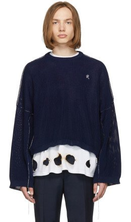 Raf Simons - Blue Cropped Sweater