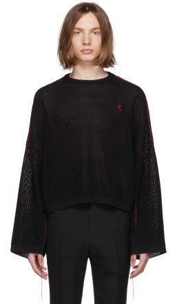 Raf Simons - Black Cropped Sweater