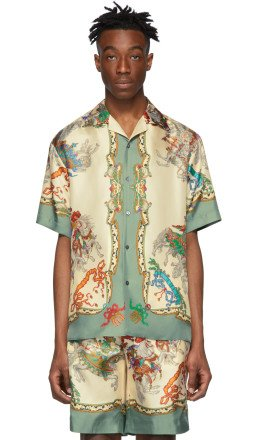 Gucci - Off-White Silk Jousting Bowling Shirt
