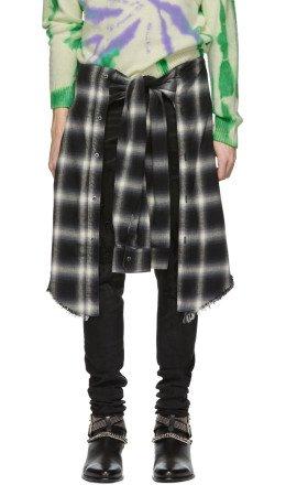 Amiri - Black Plaid Waist Shorts
