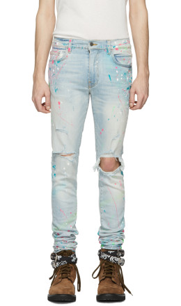 Amiri - Indigo Graffiti Jeans