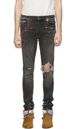 Amiri - Grey Graffiti Jeans