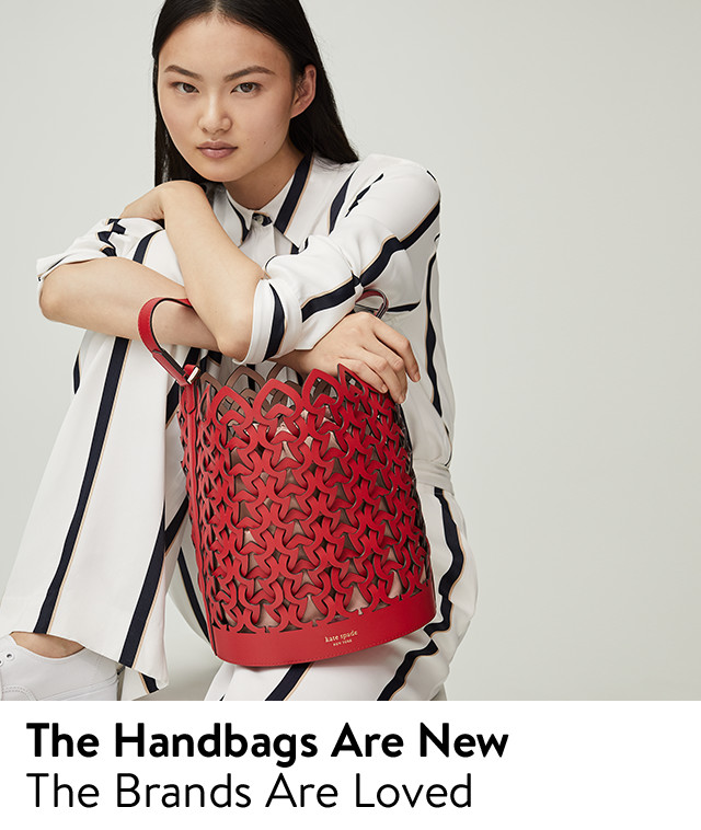 The handbags are new, the brands are loved: from Tory Burch, kate spade new york and more.