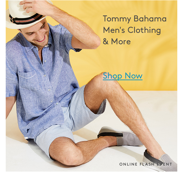 Tommy Bahama Men's Clothing & More | Shop Now | Online Flash Event