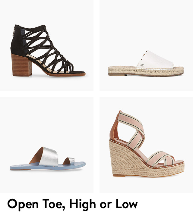 Open toe, high or low.
