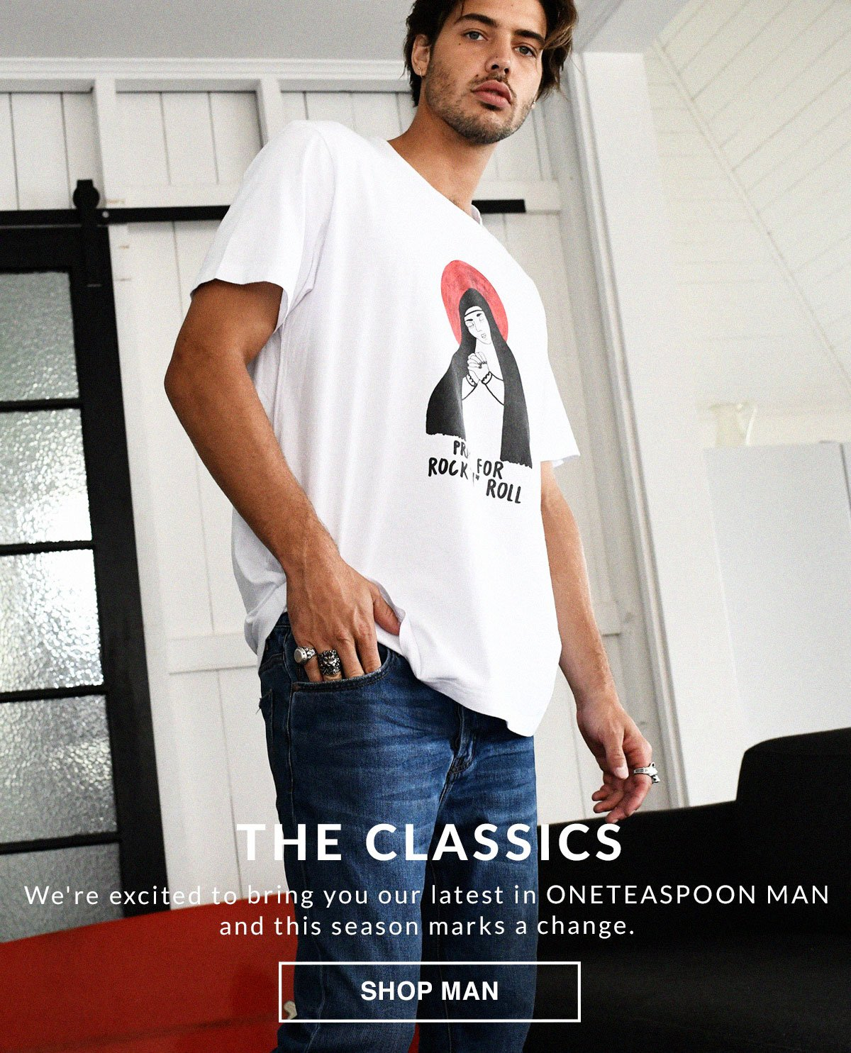 The Classics. New In Man. Shop Now.