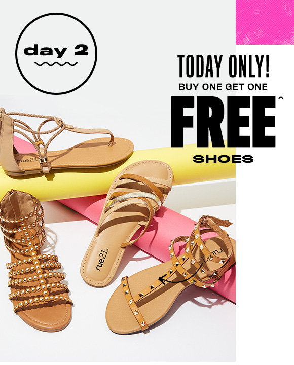 3196a938cac rue21: It's sandal szn! ☀ Buy 1, Get 1 FREE SHOES | Milled