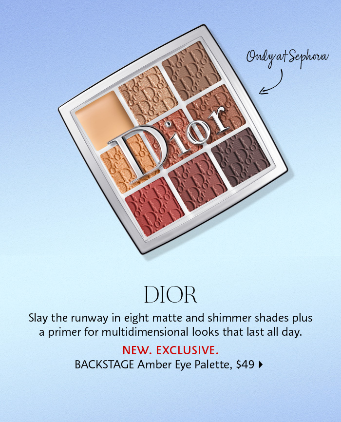 Dior BACKSTAGE Amber Neutrals Eye Palette