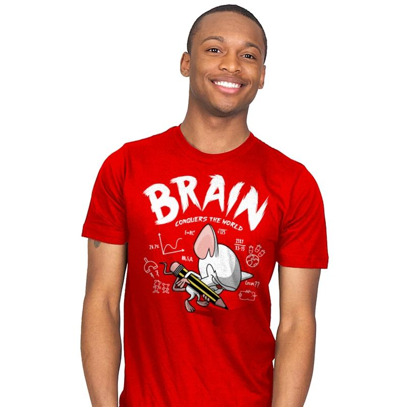 Image of Brain Conquers The World! - Raffitees - Mens