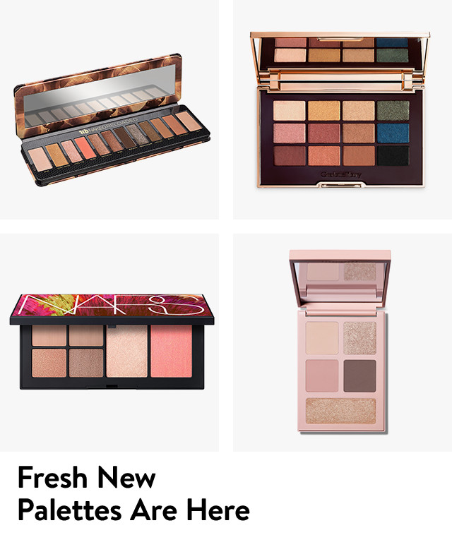Fresh new makeup palettes are here.