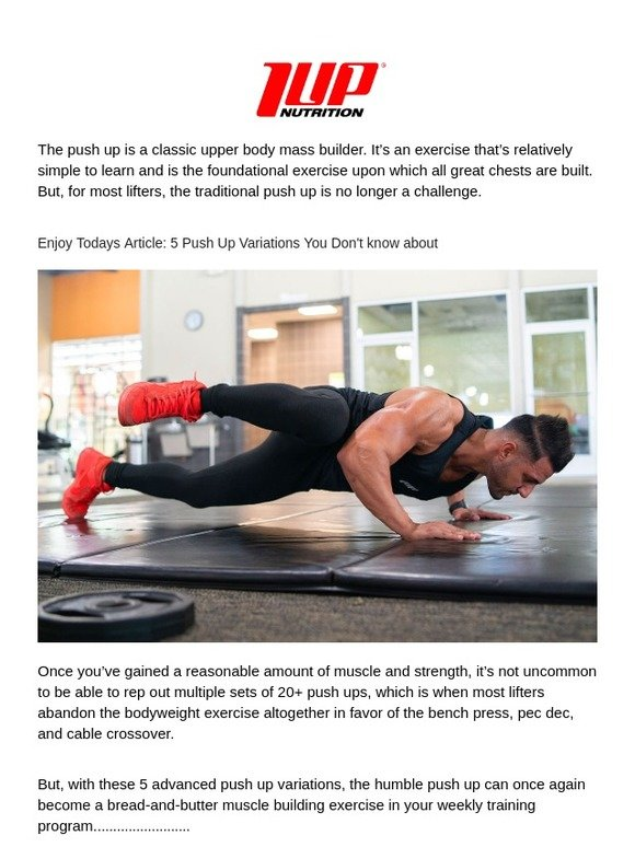 1 UP Nutrition: 💥 5 Push Up Variations You Don't know about