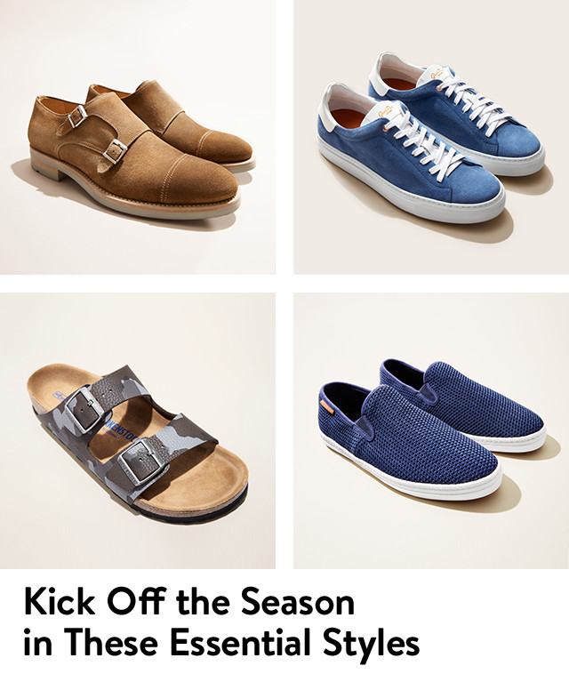 Kick off the season in these essential styles; men's spring shoes