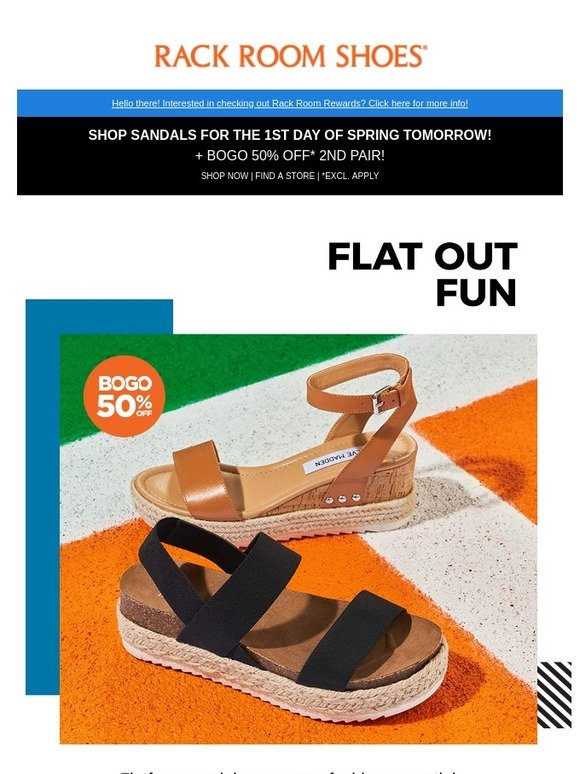 f4c77af7a Rack Room Shoes: Say hello to spring with super hot flatforms   Milled