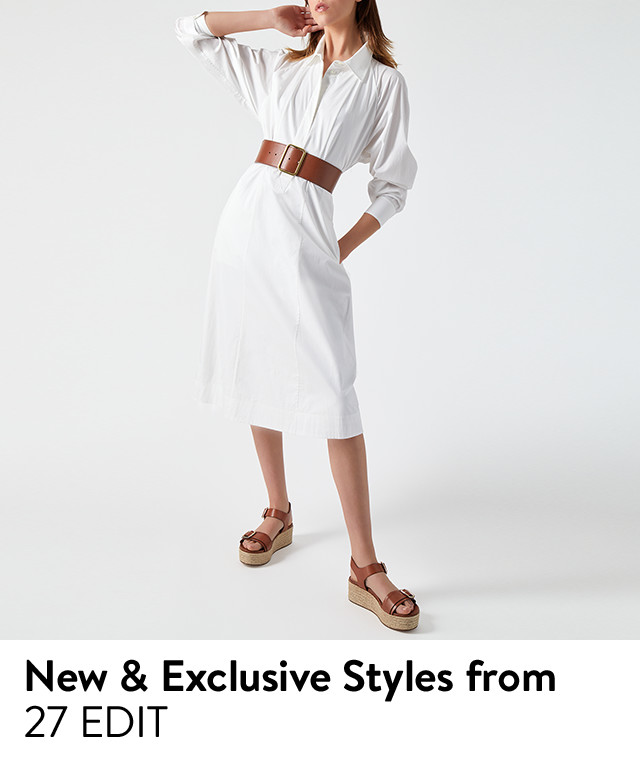 New and exclusive styles from 27 EDIT: women's spring footwear.