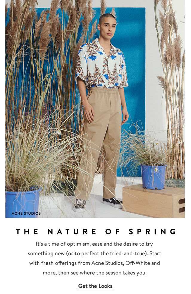 The Nature of Spring, Acne Studios clothing for men.