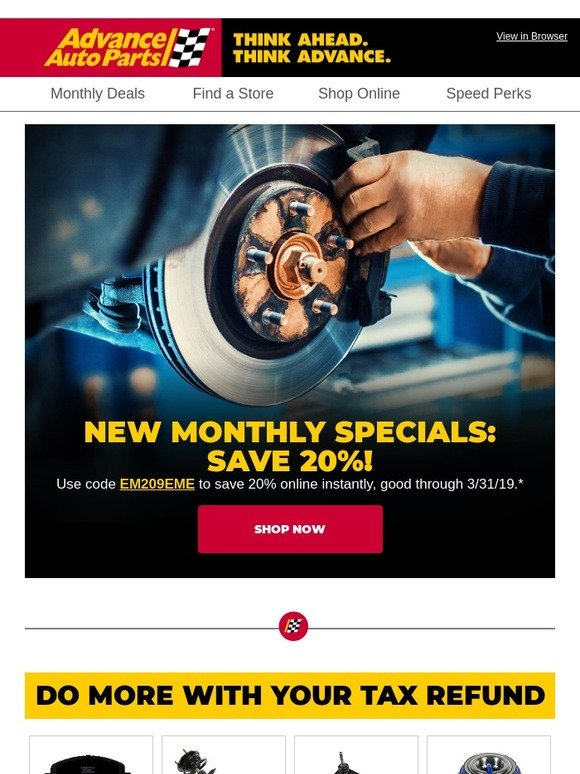 78fbe01a94c1 Advance Auto Parts: You're Getting Brand New Deals. Save 20% Online.    Milled