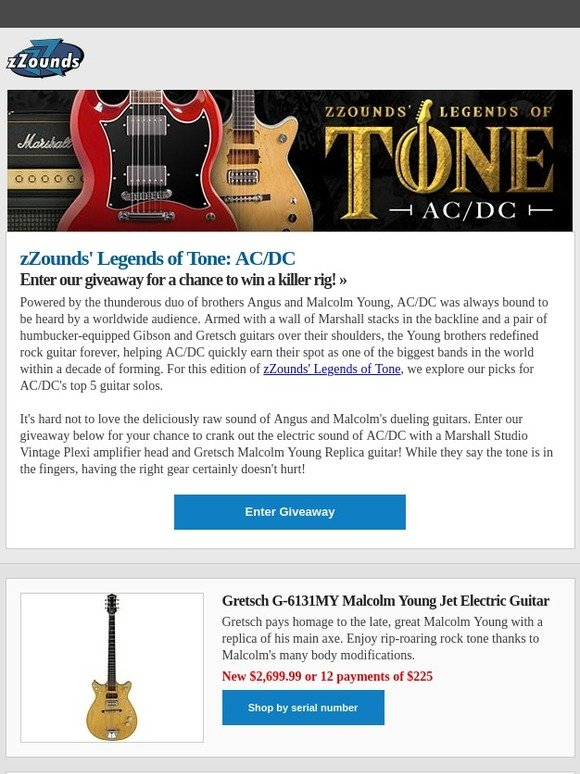 zZounds: Win a Guitar Rig Worthy of AC/DC! | Milled