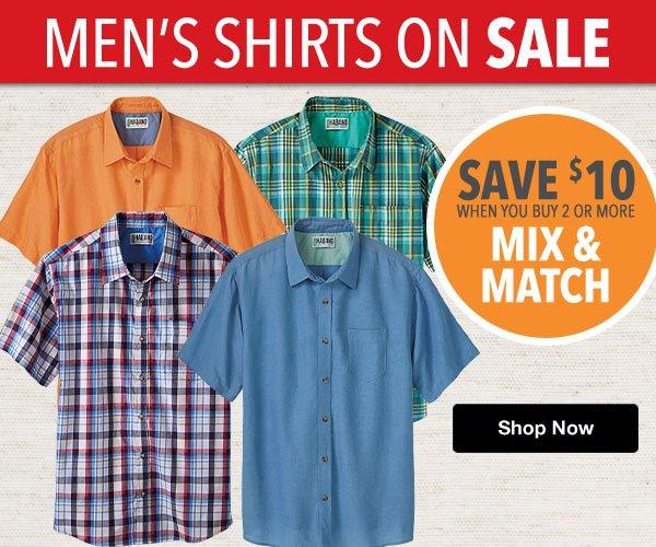 Shop Men's Shirt Sale!