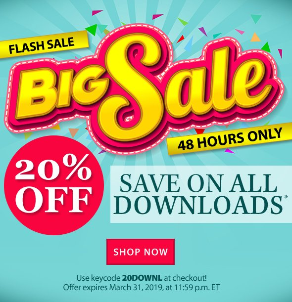 Annie's: BIG SALE! Take 20% OFF your entire download