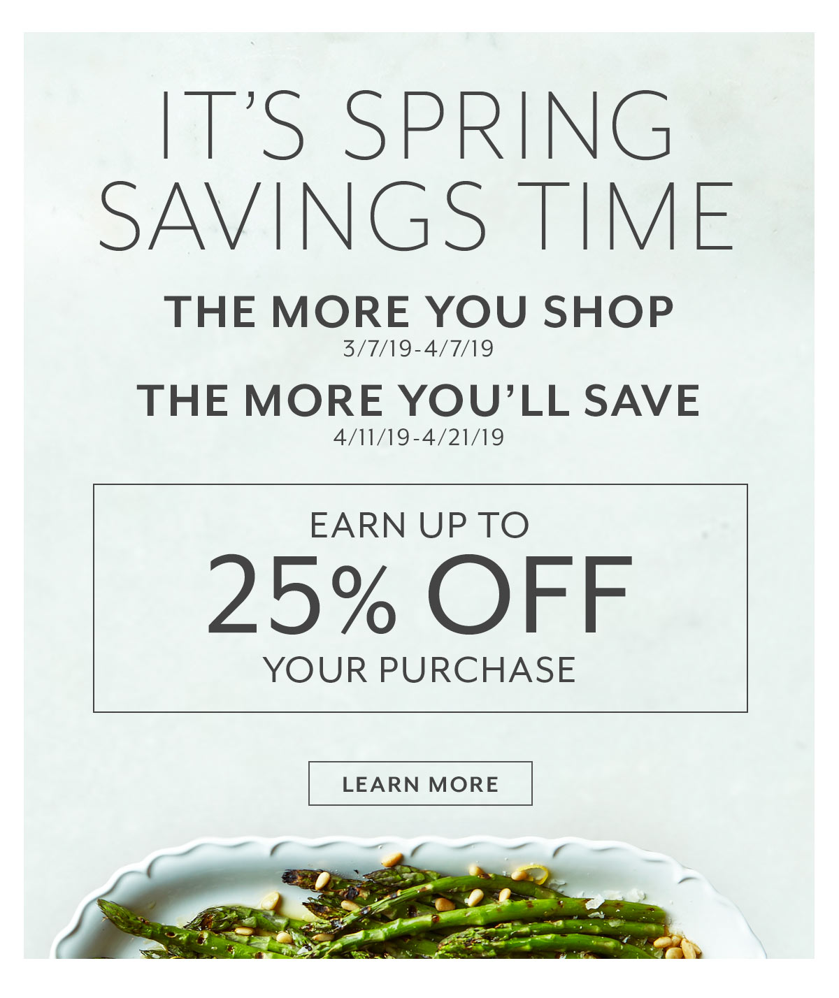 Earn Spring Savings
