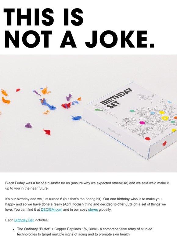 DECIEM: This is not a joke  | Milled