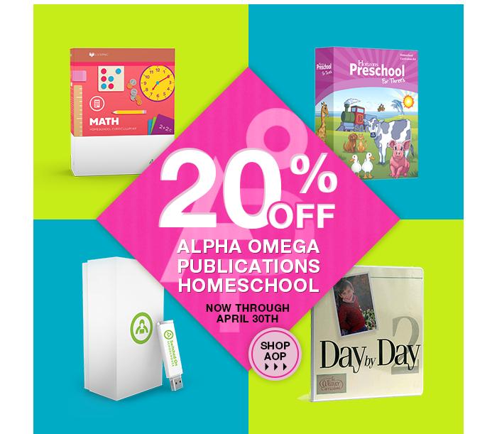 All April Long  - Alpha Omega Publications (AOP) 20% of sale
