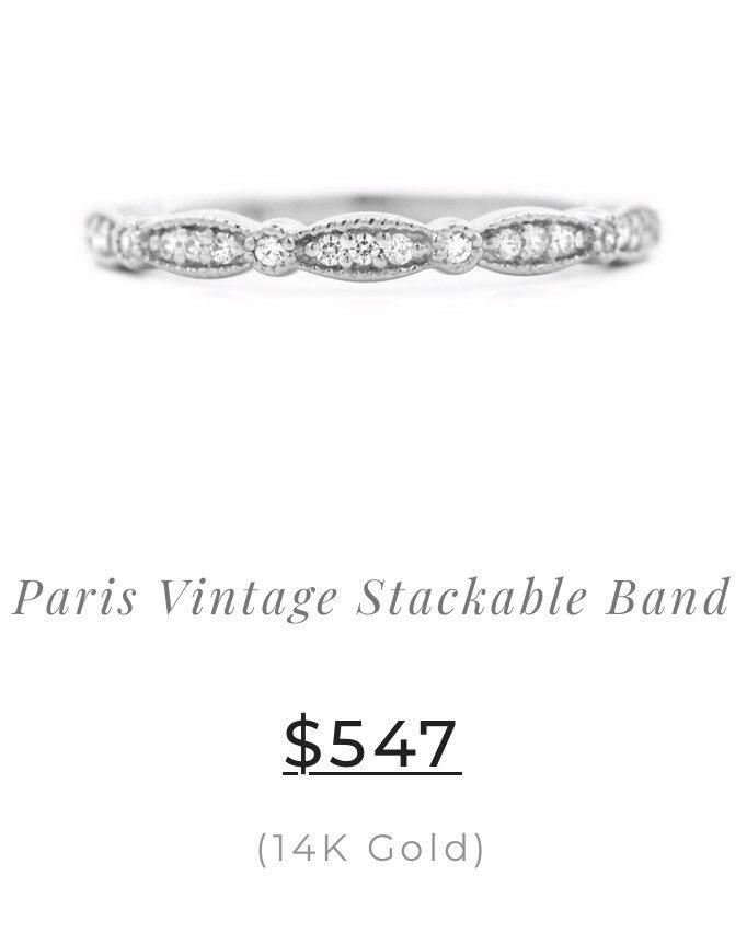 Paris Vintage Stackable Band