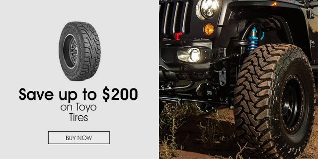 Save up to $200 on Toyo Tires