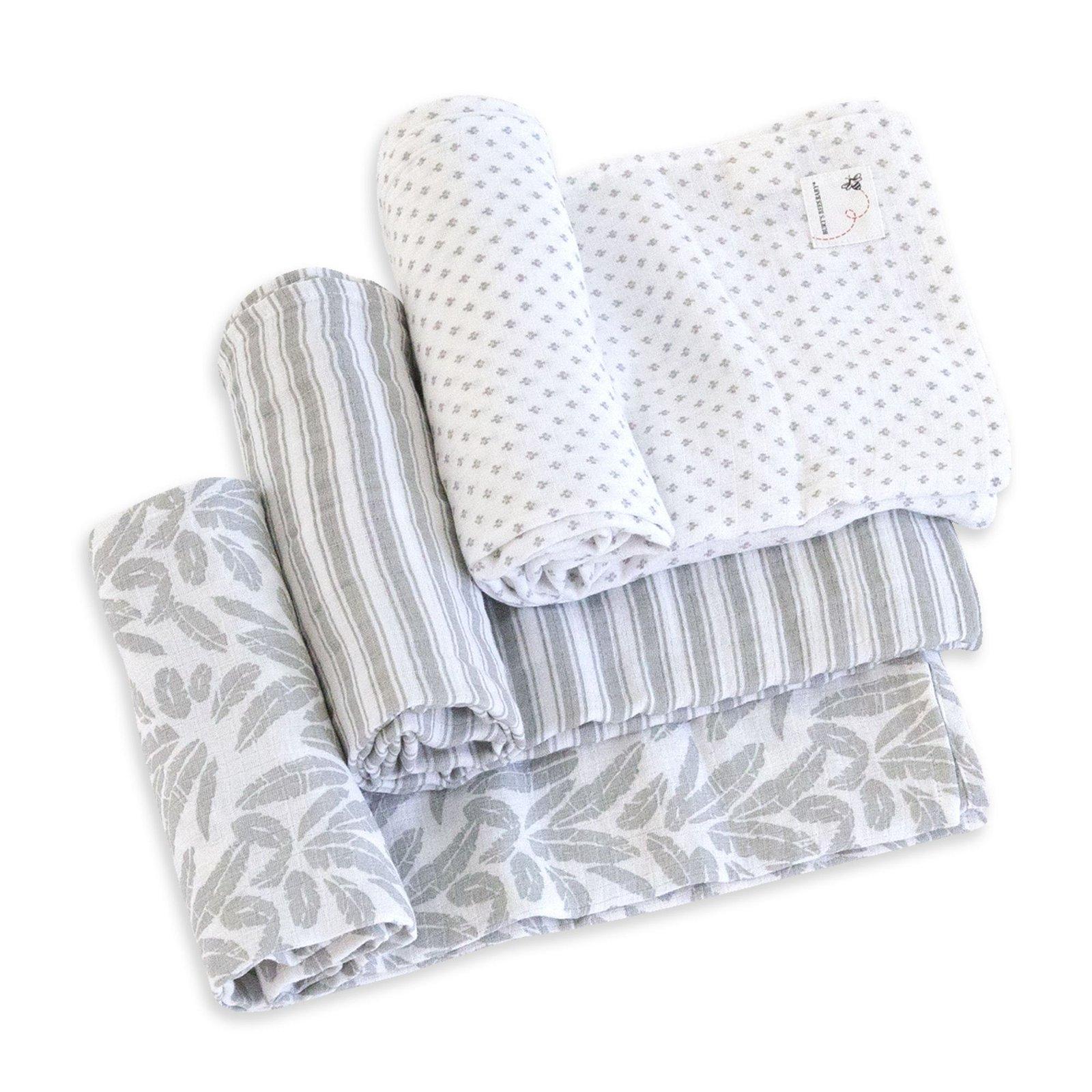 Dottie Bee Organic Muslin Swaddle Blankets 3 Pack